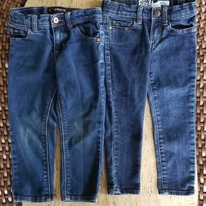 Toddler girls jeans (2 pr)